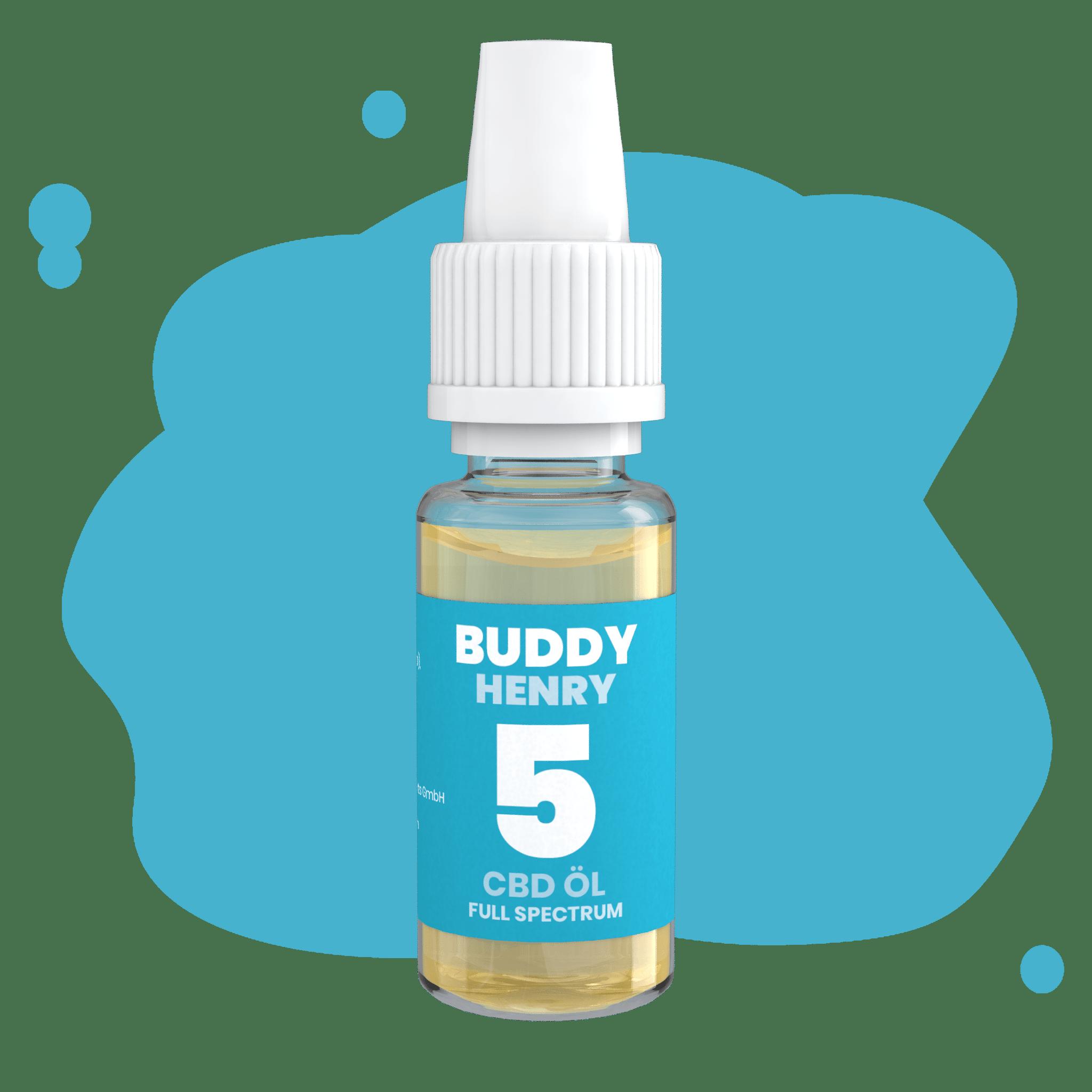 buddy cbd öl mit 5% in dropperflasche öl henry