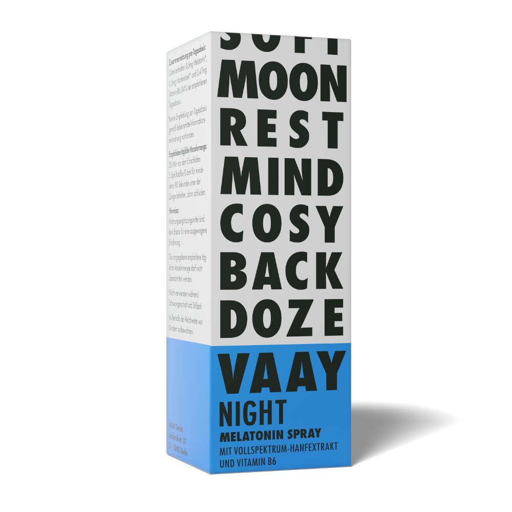 VAAY Night CBD Spray verpackung