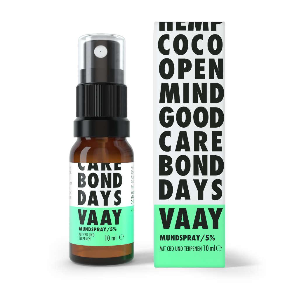 vaay cbd mundspray 5% mit vier Geschmacksrichtungen