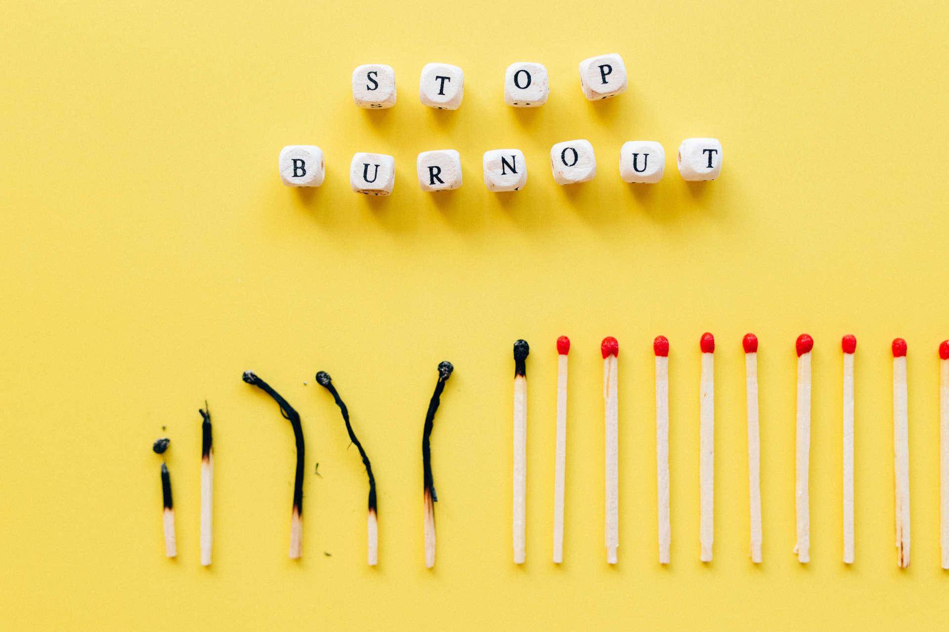 burnout streichhölzer ausgebrannt